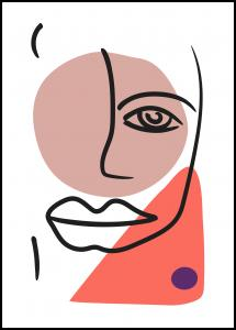 Bildverkstad Abstract Face - Red II
