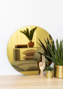 KAILA KAILA Runder Spiegel Gold 60 cm Ø
