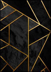 Lagervaror egen produktion Gold & Black Marble