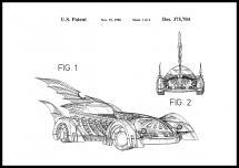 Bildverkstad Patentzeichnung - Batman - Batmobile 1996 I