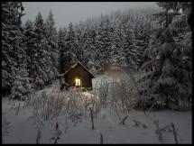 Bildverkstad Häuschen im Wintergewand