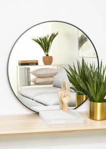 KAILA KAILA Round Mirror - Edge Black 80 cm Ø
