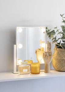 KAILA KAILA Kosmetikspiegel VII Weiß - 30x36 cm