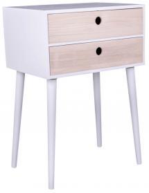 House Nordic Nachtkommode, Konsolentisch Rimini 32x45 cm - Weiß/Holz