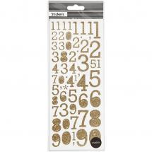 Focus Focus Glitter Sticker Gold Numbers