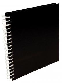 Estancia Quadratisches Spiralfotoalbum Schwarz -25x25 cm (80 schwarze Seiten)