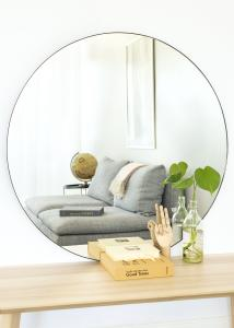 House Nordic Spiegel Jersey Schwarz 100 cm Ø