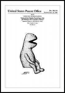Bildverkstad Patentzeichnung - Die Muppets - Kermit I Poster