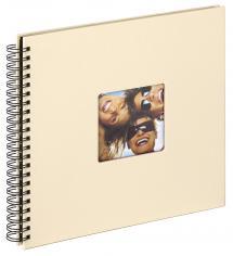 Walther Fun Spiralalbum Creme - 30x30 cm (50 schwarze Seiten / 25 Blatt)