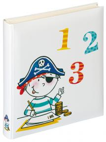 Walther Kinderalbum Pirat Schule - 28x30,5 cm (50 weiße Seiten / 25 Blatt)