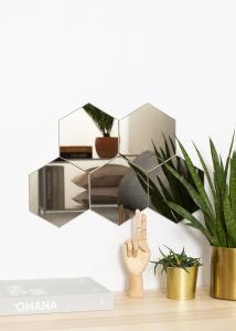KAILA KAILA Spiegel Hexagon Dark Bronze 18x21 cm - 5er-Pack