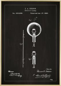 Bildverkstad Patentritning - Glödlampa B - Svart