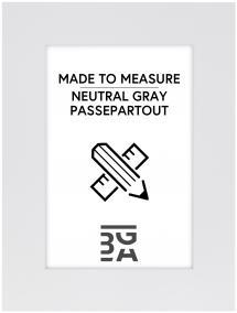 Egen tillverkning - Passepartouter Passepartout Neutral Grey - Maßanfertigung