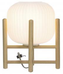 Aneta Belysning Tischlampe Vinda Klein - Holz/Weiß