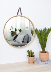 Hübsch Spiegel Bambus 60 cm Ø
