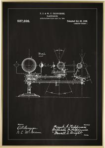 Bildverkstad Patentzeichnung - Planetarium - Schwarz Poster