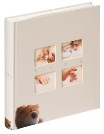 Walther Classic Bear Kinderalbum Creme - 28x30,5 cm (60 weiße Seiten / 30 Blatt)