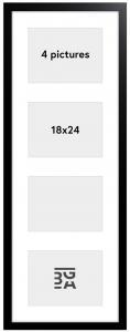 Galleri 1 Black Wood Collage-Rahmen - 4 Bilder (18x24 cm)
