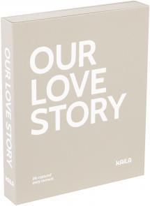 KAILA KAILA OUR LOVE STORY Grey - Coffee Table Photo Album (60 Schwarze Seiten)