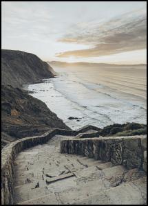 Lagervaror egen produktion Stairs to the ocean Poster
