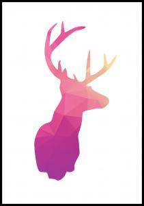 Bildverkstad Deer - Pink Poster
