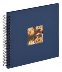 Walther Fun Spiralalbum Blau - 26x25 cm (40 schwarze Seiten / 20 Blatt)