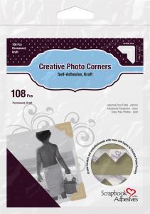 Focus 3L Creative Photo Corners Braun - 108 St.