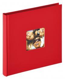 Walther Fun Album Rot - 18x18 cm (30 schwarze Seiten / 15 Blatt)