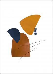 Bildverkstad Abstract Shapes I Poster