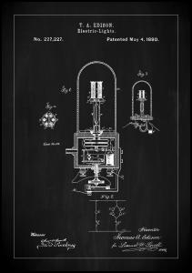 Bildverkstad Patent Print - Edison Light - Black
