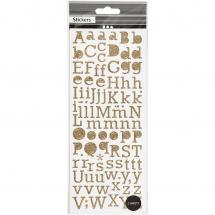 Focus Focus Glitter Sticker Gold Letters