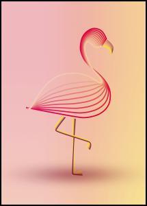 Bildverkstad flamingo Poster