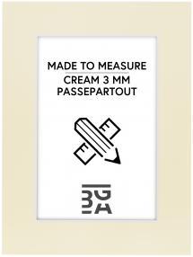 Passepartouter Måttbeställda Passepartout Creme 3 mm (weißer Kern) - Maßgefertigt