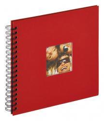 Walther Fun Spiralalbum Rot - 26x25 cm (40 schwarze Seiten / 20 Blatt)