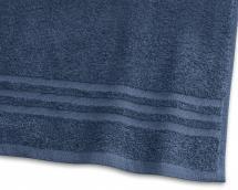 Borganäs of Sweden Gästehandtuch Basic Frottee - Marineblau 30x50 cm