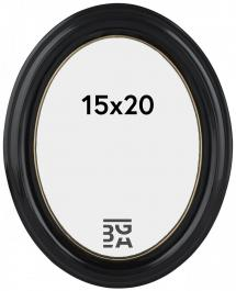 Estancia Eiri Mozart Oval Schwarz 15x20 cm
