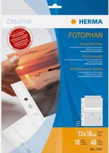 Herma Fototaschen 13x18 cm horizontal - 10er-Pack Weiß