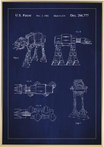 Bildverkstad Patentritning - Star Wars - Walker - Blå