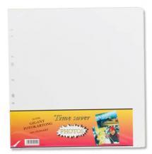 Albumblätter Timesaver Gigant - 10 weiße Bögen