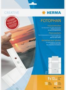 Herma Fototaschen 9x13 cm horizontal - 10er-Pack Weiß