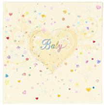 Innova Editions Premium Babyalbum - 25x25 cm (50 weiße Seiten / 25 Blatt)